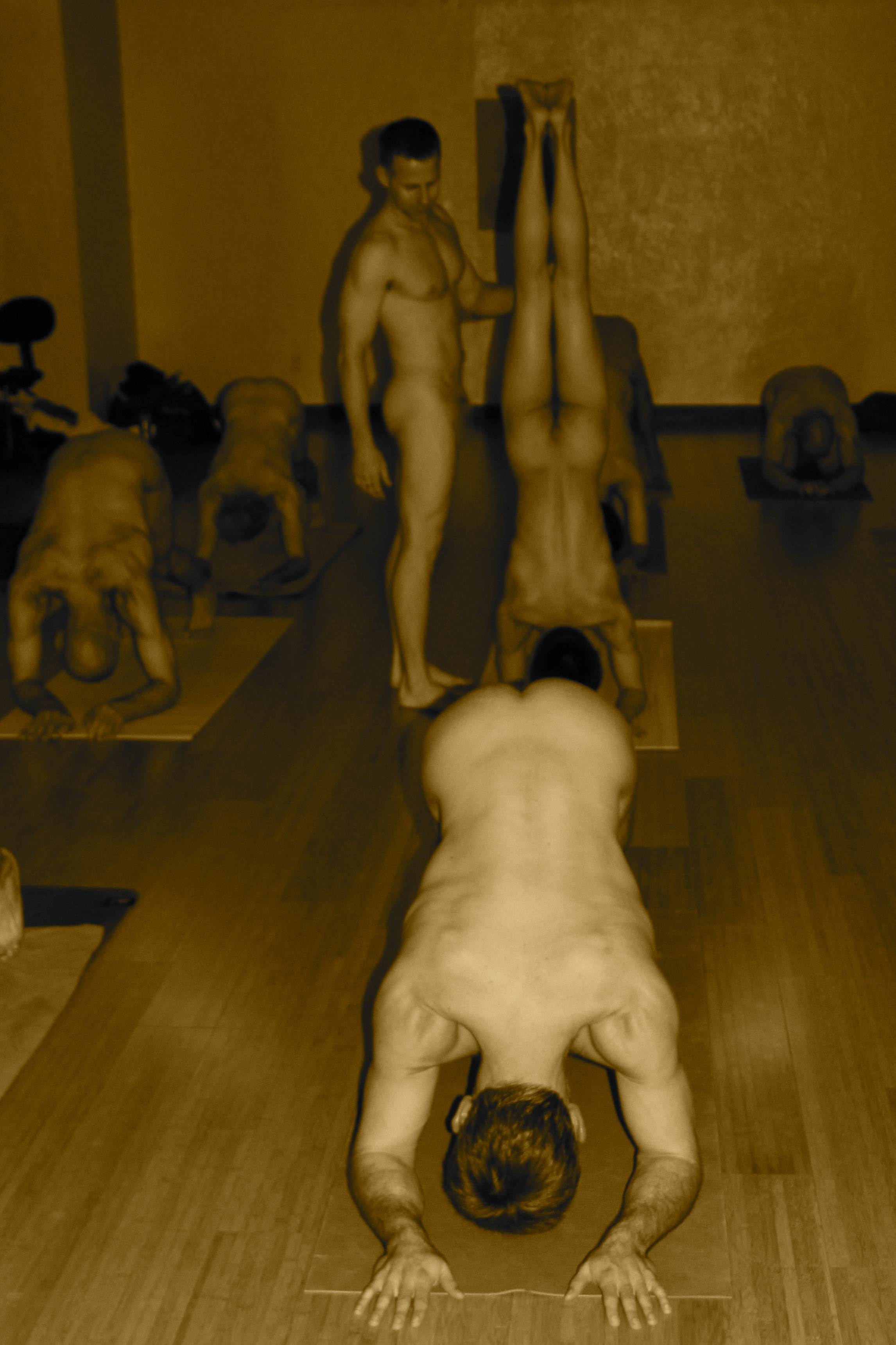 Nude yoga gay men