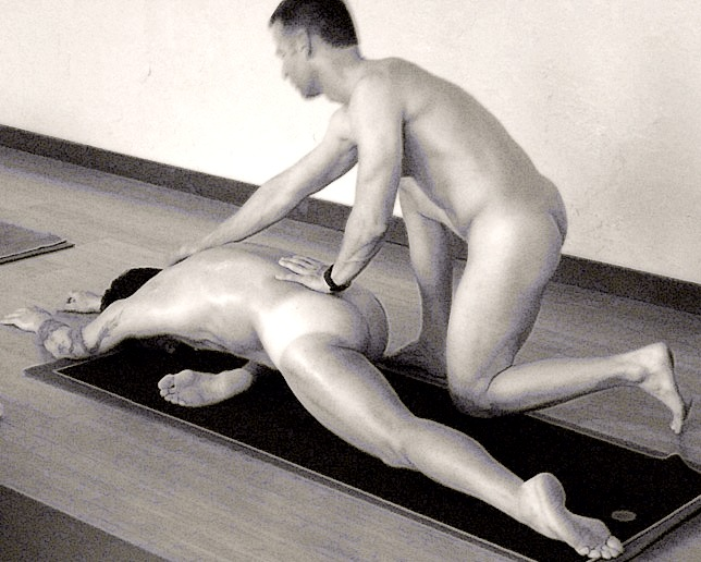 naked yoga couples