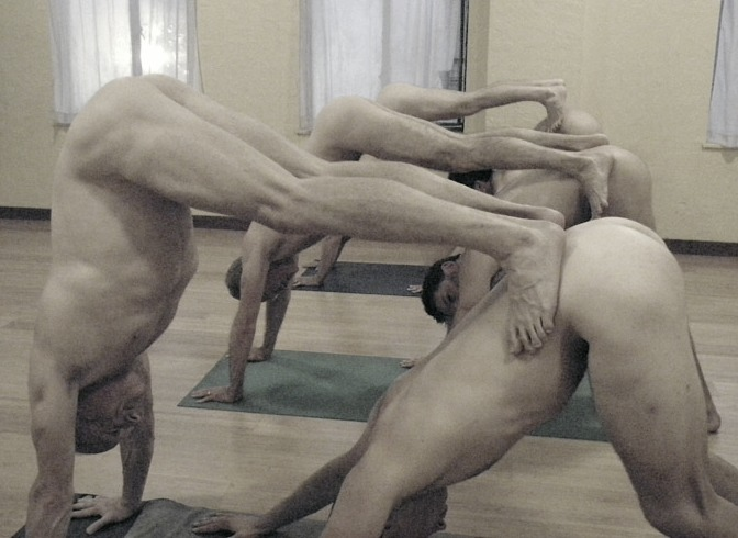 Nice naked yoga men